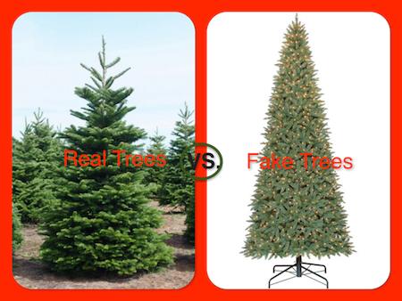 Real trees vs. Fake